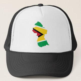 Guyana Flag Map GY Trucker Hat