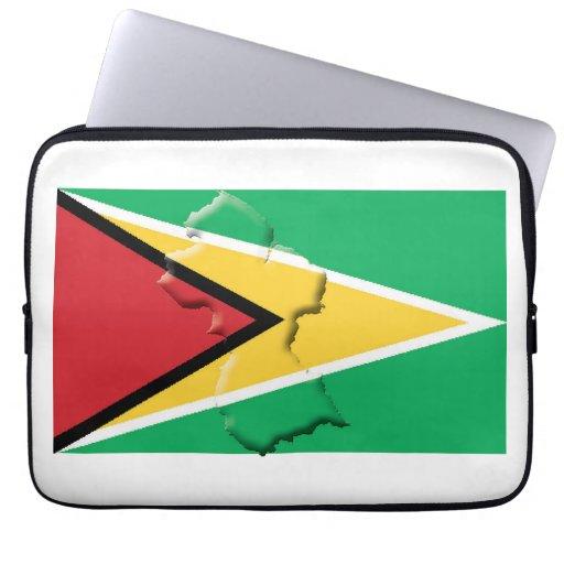 GUYANA Flag Map Patriotic Computer WHITE Laptop Sleeve