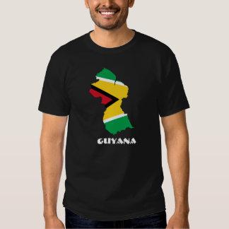 Guyana Flag Map Shirt