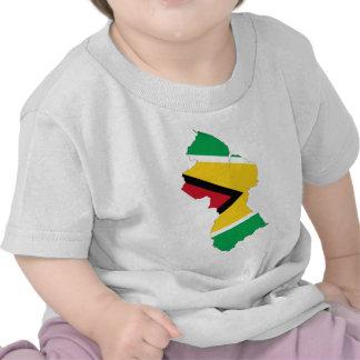 Guyana Flag Map T Shirt