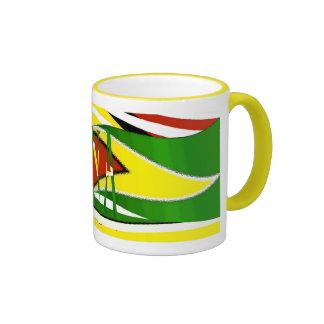 Guyana Flag Mug_Design26 Ringer Coffee Mug