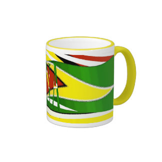 Guyana Flag Mug_Design_28 Ringer Coffee Mug