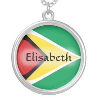 Guyana Flag + Name Necklace