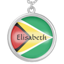 Guyana Flag   Name Necklace
