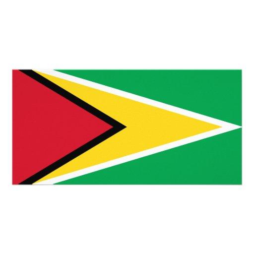 Guyana flag photo card