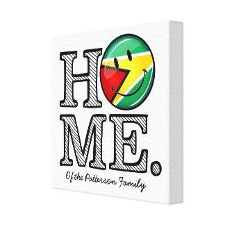 Guyana Flag Smiley House Warmer Canvas Print