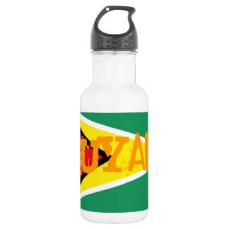 Guyana flag stainless steel water bottle