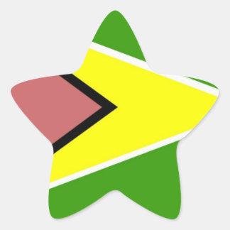 Guyana Flag Star Sticker