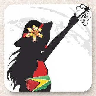 Guyana Girl Cork Coaster