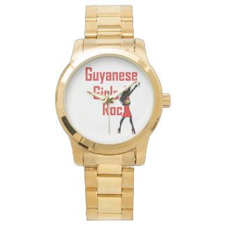 Guyana Girl Gold Band Watch