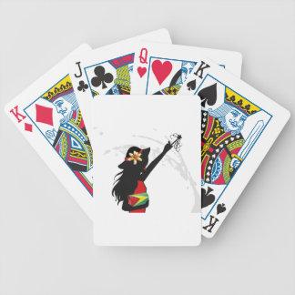 Guyana Girl Playing Cards