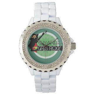 Guyana Girl White Rhinestone eWatch Watch