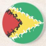 Guyana Gnarly Flag Drink Coaster