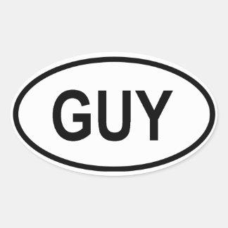 "Guyana ""GUY"" Oval Sticker"