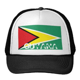 Guyana guyanese flag trucker mesh souvenir hat