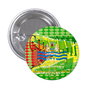 Guyana, Happy 50th Anniversary  Independence 'Lo Pinback Button