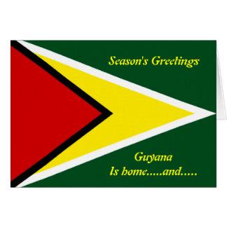 Guyana happy holidays greeting cards
