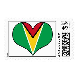 Guyana Heart Postage Stamp