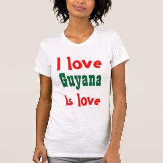 Guyana is love tee shirts