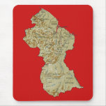 Guyana Map Mousepad