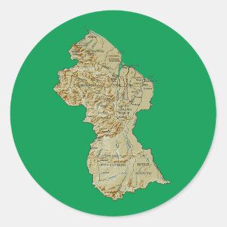 Guyana Map Sticker