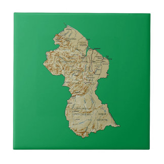 Guyana Map Tile
