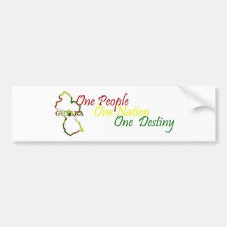 Guyana One People Bumper Sticker