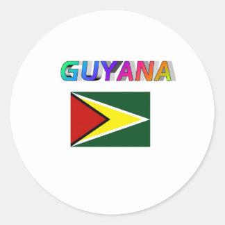 Guyana Pegatina Redonda