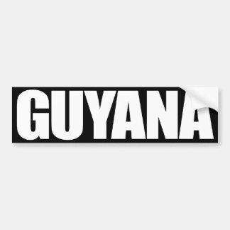 Guyana Pegatina Para Auto