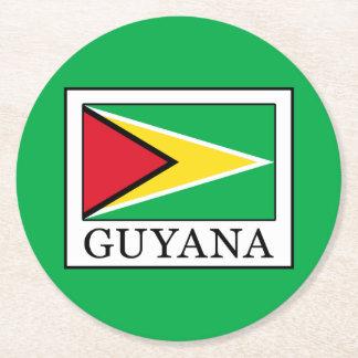 Guyana Round Paper Coaster