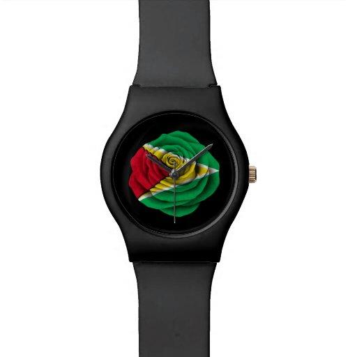 Guyana subió la bandera en negro relojes de mano