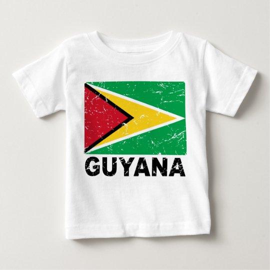 Guyana Vintage Flag Baby T-Shirt