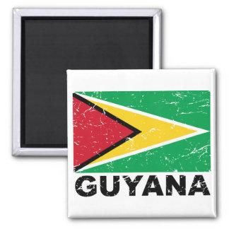 Guyana Vintage Flag Magnet