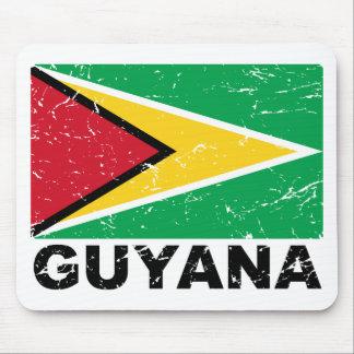 Guyana Vintage Flag Mouse Pad