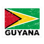 Guyana Vintage Flag Postcard