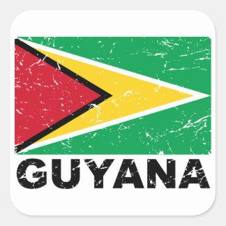 Guyana Vintage Flag Square Sticker