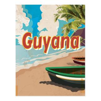 Guyana Vintage vacation Poster Postcard