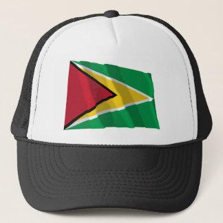 Guyana Waving Flag Trucker Hat