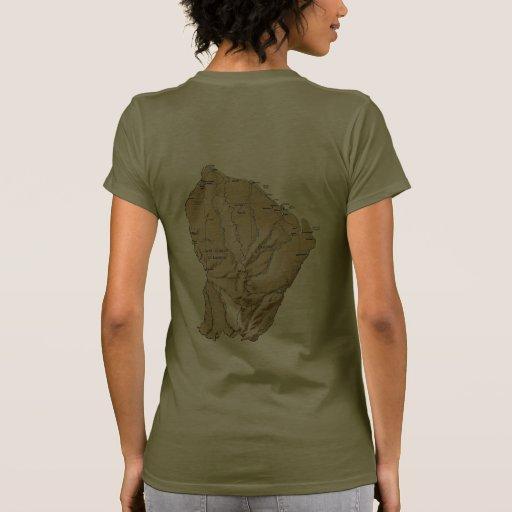 Guyane Flag and Map dk T-Shirt Tee Shirt