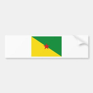 Guyane Flag GF Bumper Sticker