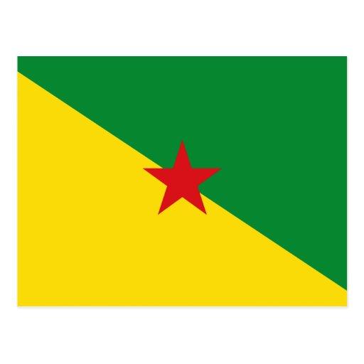 Guyane Flag GF Postcard