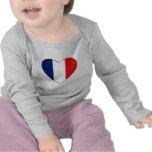 Guyane Flag Heart T-Shirt