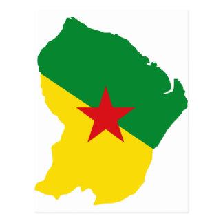 Guyane Flag Map GF Postcard