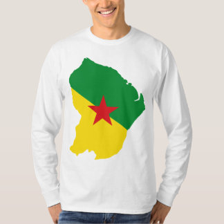Guyane Flag Map GF T-Shirt