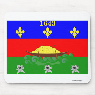 Guyane flag mouse pad