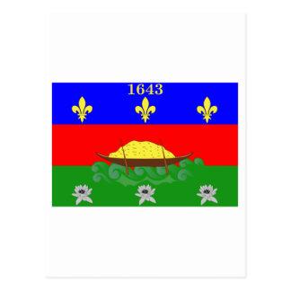 Guyane flag postcard