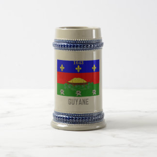 Guyane flag with name beer stein