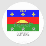 Guyane flag with name stickers