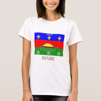 Guyane flag with name T-Shirt