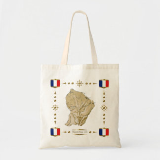Guyane Map + Flags Bag